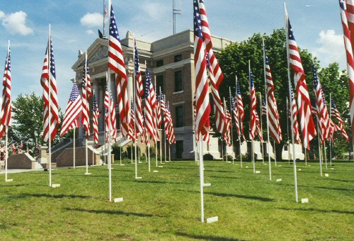 Courthouse on Memorial Day